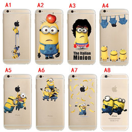Wholesale Despicable Iphone Case Tpu - For Iphone 7 Despicable Me Minions Cartoon Ultra Thin Clear Crystal Soft TPU Cases Cover For iphone 6 6s plus 6S 5S With OPP Bag