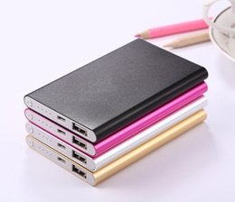 Wholesale Logos Tablet Pc - Factory Wholesale Ultra-thin Power Bank 8800mah Powerbank Universal Charger for mobile phone Tablet PC External battery (Custom LOGO)
