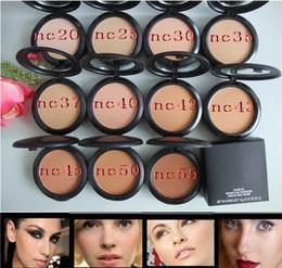 Wholesale Fix Cream - New Foundation Brand Make-up Studio Fix Powder Cake Easy to Wear Face Powder Blot Pressed Powder Foundation 15g Free Ship