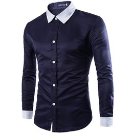 Wholesale Size Chemise - Free shipping high quality new men's Slim casual Social Dress Shirts chemise homme man Black White long-sleeved shirt Plus Size