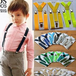 Wholesale Children Boy Clips Suspender - Children Straps Cute Elastic Boys Girls Clip on Suspenders Clothing Kids Cool Vintage Fashion Y Shape Adjustable Braces High Quality Braces
