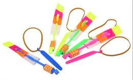 Wholesale Party Supplies Child Birthday - Novelty Children Toys Amazing LED Flying Arrow Helicopter for Sports Funny Slingshot birthday party supplies Kids' Gift