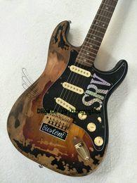 Wholesale Electric Guitars Vintage Sunburst - Rare Guitar 10S Custom Shop Masterbuilt Limited Edition Stevie Ray Vaughan Tribute SRV Number One ST Electric Guitar Vintage Brown Wholesale