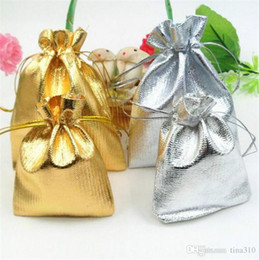 Wholesale Organza Bags 5x7cm - 100pcs Gold Or Silver Jewelry Pouch Organza Wedding Favor Gift Bag Pouch Jewelry Package 5x7cm   7x9cm   9x12cm   11x16cm   13x18cm 4098