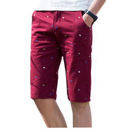 Wholesale Animal Print Buttons - Wholesale-2016 Summer New Brand Cotton Beach Men Shorts Print Casual Shorts Bermuda Masculina Z6610
