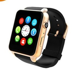 Wholesale Android Mp4 Support - Smart Watch Wristwatch Digital-watch Bluetooth For IOS Android Support SIM Card health tracker MP4 Factory Direct Sale
