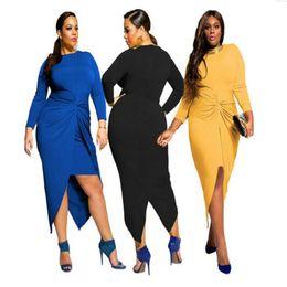 Wholesale Cheap Ladies Cotton Dresses - Cheap wholesale ladies dress fashion ladies dress oversized M-3XL long sleeved dress XL pure dovetail Ruffle Feipo dress