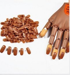 Wholesale Nail Practice Fingers Wholesale - 100pcs pack Nail Trainer False Nail Tips PP Material Original Type Accessory For Practice Hand Free Shipping