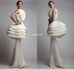 Wholesale Styles For Formal Maternity - Krikor Jabotian 2016 Evening Gowns Peplum Mermaid Ruffles Satin Beaded Full Length Fashion Arabic Style Celebrity Formal Dresses for Pageant