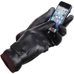 Wholesale Gants Glove - men winter gloves touch screen gants cuir homme men gloves winter touch screen gloves touch gloves for women