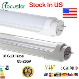 Wholesale Lamps Fluorescent - Us stocks 4FT 22W T8 Led Tube Light 2400lm Led lighting Fluorescent Tube Lamp SMD2835 AC 85-265 CE RoHS