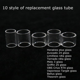 Wholesale Tanks 25 - The Troll Avocado 24 Limitless RDTA Tornado Melo 3 Griffin 25 OBS Crius Target Bellus Theorem Replacement Newest Tank Pyrex Glass Tube