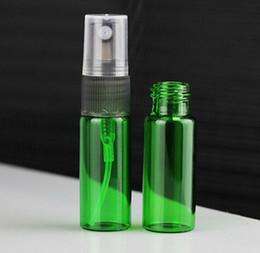 Bottiglie di vetro verde spray all'ingrosso online-Commercio all'ingrosso 1000 pz / lotto 5 ml 1/6 oz di vetro fragrante liquido nebbia fine atomizzatore di profumo spray riutilizzabile bottiglia vuota verde rosa