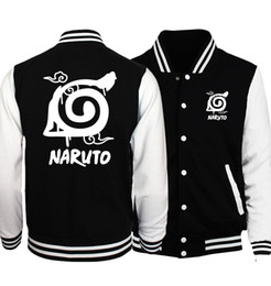 naruto uzumaki jacket Coupons - Wholesale- 2017 hot sale anime Uzumaki Naruto sweatshirts konoha printed unisex baseball jackets spring autumn tracksuits men women hoodies