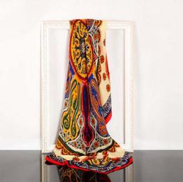 Nuove sciarpe di inverno di modo Donne Marca cachecol Sciarpe floreali Foulard Femme Designer scialli Sciarpa Sciarpe lunghe Donna Calda Pelliccia invernale di spessore da bambù di spessore fornitori