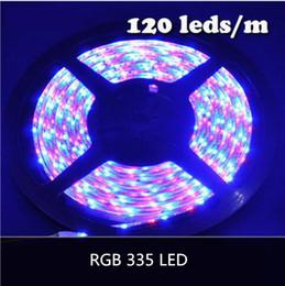 Wholesale 335 White - NEW RGB COLOR SMD 335 LED Strip Light DC12V 5M Glue Waterproof IP65 120leds m 600leds Totally Side Emitting Lighting