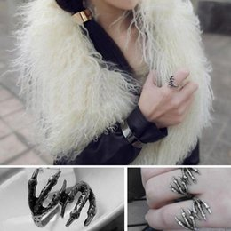 Wholesale Finger Clamps - Chic Retro Gothic Punk Rock Jewelry Eagle Claw Finger Ring Talon Clamp C00535