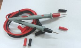 Wholesale Test Lead Banana Plugs - 10 Pair 20A 1000v silicone Voltage Leads Cable 4mm Banana Plug Test Probes Pen 110cm