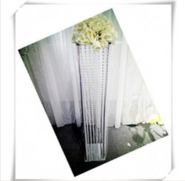 Wholesale Led Acrylic Stands - Free shipment 5PCS lots acrylic road lead   squre flower stand 100cm tall 20 cm diameter
