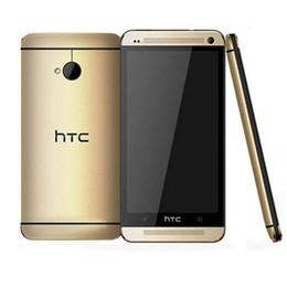 Wholesale M7 One - 4.7 inch HTC One M7 Refurbished Original Unlocked Android Phones 2GB RAM 32GB ROM 1920x1080 Full HD 2300mAh Battery Smartphone