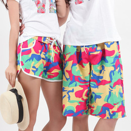 Wholesale Beach Surf Pants Women - Wholesale-hot 2016 summer new arrival women and men board shorts couple beach pants shorts quick-drying lovers casual surf shorts Z199