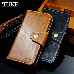 Wholesale Galaxy S4 Magnet Case - TUKE Leather Case For Samsung Galaxy S4 Flip Silicon Cover S 4 I9500 SM-i9500 Magnet Protective Phone Bags Cases Funda + Lanyard