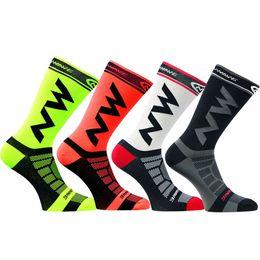 Wholesale White Silk Socks - Sky Knight 2017 New Cycling Socks Comfortable Breathable Men Sports Bikes Running Socks