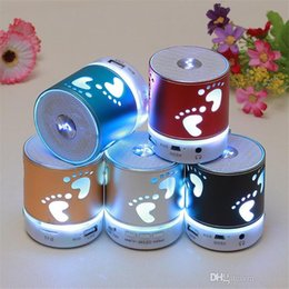 Wholesale Cheap Bluetooth For Cell Phones - Bluetooth Mini Speaker Portables Speakers Wireless LED Light Flash Handsfree FM TF USB Power Sound Cheap Factory Price For Cell Phone PC KH