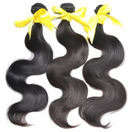 Wholesale Body Sold - No1 Selling 8A Grade MikeHAIR Eurasian Filipino Peruvian Indian Malaysian Brazilian Hair Weaves Hair extension Body Wave Human Hair Weft