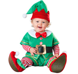 Wholesale Christmas Elf Clothes - Wholesale Christmas Special Occasions Baby & Kids Clothing with Santa Baby Reindeer Rascal Santa's Elf Snowman 5 type for choose