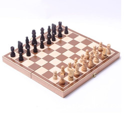 Wholesale Wooden Chess Boards - Wooden chess, high-grade chess, folding International Chess Set Board Game 30cm x 30cm Foldable Kids Gift Fun Hot