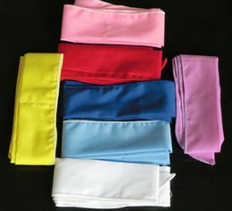 Wholesale cool neck tie - DHL 300Pcs Wholesale Pure Color Unisex Cool Water Band Speed to Cool Towel Cooling Scarf Ties Neck Scarves Mix Color ice Belt