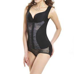 Wholesale Thin Corsets - Wholesale-Women Mesh Thin Shaper Vest Underwear Abdomen Corset Shapewear L-2XL