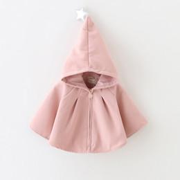 Дети розовые весенние пальто онлайн-Новый плащ девушки весной и зимой Рождество шляпа новый женский детская одежда дети Рождество зимнее пальто