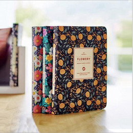 "Wholesale Hard Cover Notepad - ""Flowery Planner"" Hard Cover Schedule Diary Any Year Planner Pocket Journal Kawaii Girlls Notebook Agenda Memo Korean Study School Gift"