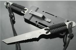 coltelli da caccia di lame fisse Sconti Esterna di caccia di sopravvivenza esterna Camping Diving Diving lama fissa con ABS K Guaina regalo di Natale