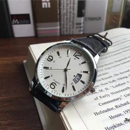 Wholesale Thinnest Automatic Watch - Ultra-thin Famous brand mens watch Luxury Leather strap Automatic date Business Quartz watches for men male best gift High quality clocks