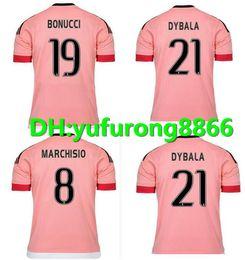 Wholesale Soccer Jersey Pink - 2015 16 Old Pink Juv Legion jerseys DYBALA Soccer Jerseys CHIELLINI POGBA MARCHISIO Pirlo Higuain Alex Sand Coppa Italia Football Shirts Kit