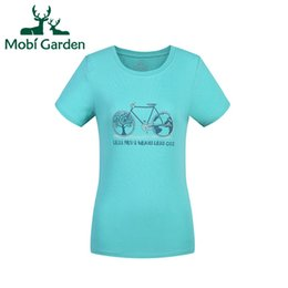 Wholesale Dry Fit Shirts Women - Wholesale-Mobi Garden Charming Pure Cotton Dry Fit Outdoor Fishing Running Camping Hiking Leisure Sport T-shirt Women ZWA1404028 WTS735