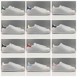 Wholesale Branded Sneakers - Adidas Originals 2018 Stan Smith Spring Copper White Pink Black Fashion Shoe Man Casual Leather brand woman man shoes Flats Sneakers
