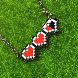 Wholesale Necklace For Health - 2016 Legend Of Zelda health bar necklace red heart pendants anime jewelry for men women Christmas gift 160002