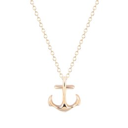 Wholesale anchor pendants - 10pcs lot Silver Anchor Necklace Pendant Gift for Girls Wholesale Jewelry Christmas Gifts Womens Clothing Accessories