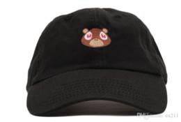 Wholesale Black Bear Print - Kanye West Ye Bear Dad Hat Lovely Baseball Cap Summer For Men Women Snapback Caps Unisex Exclusive Release Hip Hop Hot Style Hat