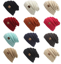 Wholesale Wholesale Winter Ski Hats - Hats Women Men Winter Special Solid Adult Gorro C Men's Women's Chucky Stretch Cable Knit Slouch Cc Beanie Skully Ski Hat