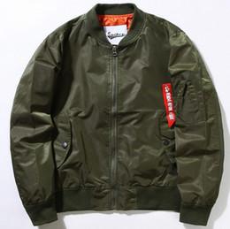 Wholesale Baseball Clothing For Men - KANYE WEST Jacket MA1 Bomber Jacket Pilot Flight Jackets For Men Hip Hop Baseball Uniform Padded Sports Clothes Winter Windbreak Coat