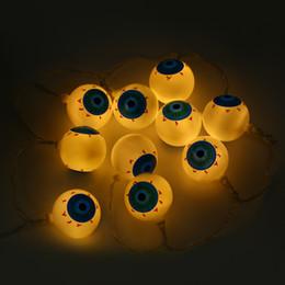 Wholesale Led Aa Battery Lamp - Wholesale- 2M 20 LEDs Eyeball Halloween String Light AA Battery Lamp