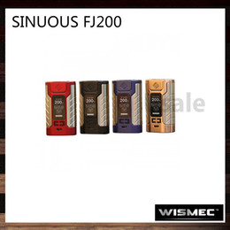 Wholesale Green Hid - Wismec Sinuous FJ200 200W TC Mod Built-in 4600mAh Battery 1.3-inch Display Hidden Fire Button With Green Indicator Light 100% Original