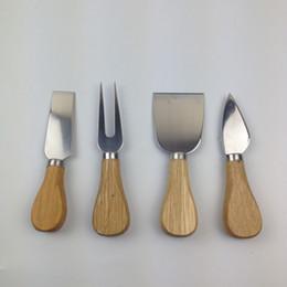 Argentina 50 sets 4 unids / set cuchillos Bard Set Oak Handle Cheese Knife Kit de cocina Herramientas de cocina Accesorios útiles Suministro