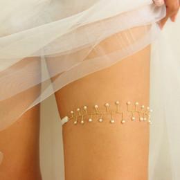 2019 conjunto de liga de encaje vintage la liga Elegante liga de la boda con cuentas de oro liga de la boda con cable Plata ligadas con nudos de la liga accesorios de novia hecho a mano longitud personalizada disponible