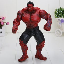 "Wholesale Avengers 26cm - Red Hulk 10"" 26cm Action Figure The Avengers PVC Figure Toy Hands Adjusted Movie Lovers Collection"